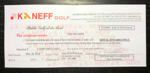 Kaneff golf for 4 - Royal Ontario