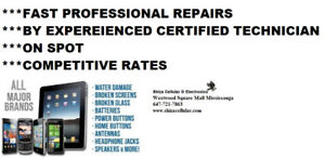 IPHONE and SAMSUNG  REPAIR** BY CERTIFIED PROFESSIONAL***ON SPOT