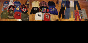 29 Pieces - 4T Winter Boys Clothing Shirts, Pants, Sweaters