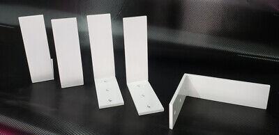 """2 Heavy Duty white Steel 6""""x8""""x2.5"""