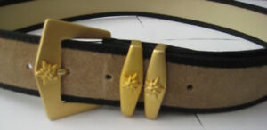 Mondi Genuine Leather Tan Belt with Gold Buckle
