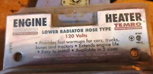 Two 120 volt Lower Rad hose Heaters