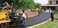 Driveway in parking lot Asphalt paving free quote