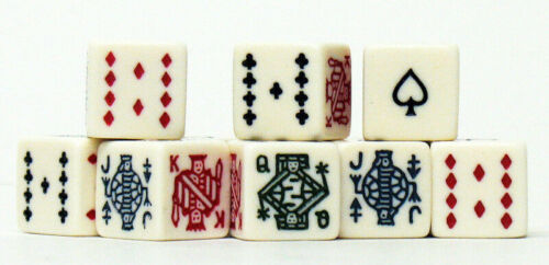 Poker Dice - 5 ct Set Game SHIPS FROM THE USA 5 piece
