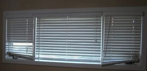 EUC VERTICAL VINYL BLINDS IN WHITE 3 PIECE SET - TAKE ONE OR ALL