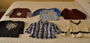 Fall / Winter long sleeved shirts and sweater, size 2