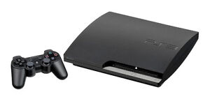 PS3 with 2 wireless controllers.