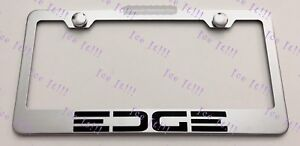 Ford EDGE Stainless Steel License Plate Frame Rust Free W/ Bolt Caps