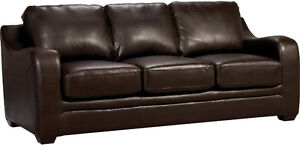 Chase Brown Faux Leather Sofa