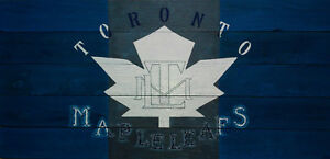 Maple Leafs wood panel sign