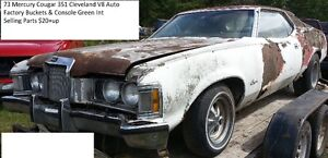 PARTING OUT: 1973 Mercury Cougar 351 Clevland V8, Auto Buckets