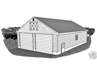 32 x 48 Two Bay FG / RV Garage /15 ft Ceiling & Nurse Door Garage Structure Plans
