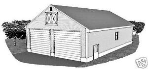 32x48 two bay fg rv garage 15 ft ceiling rear door garage for 2 bay garage plans