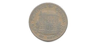 Canada Colonial Token   Bank Of Montreal 1 2 Penny 1844 Cns 819