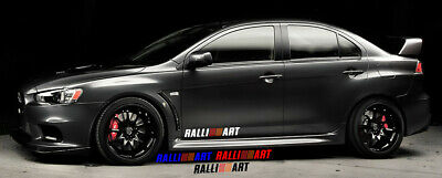 2x Mitsubishi Lancer RalliArt Vinyl Decal Stickers for Side Door/ Side Skirt