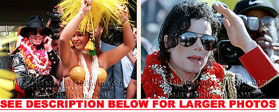 MICHAEL JACKSON 1992 HAWAii VISIT (2) RARE 8x10 PHOTOS