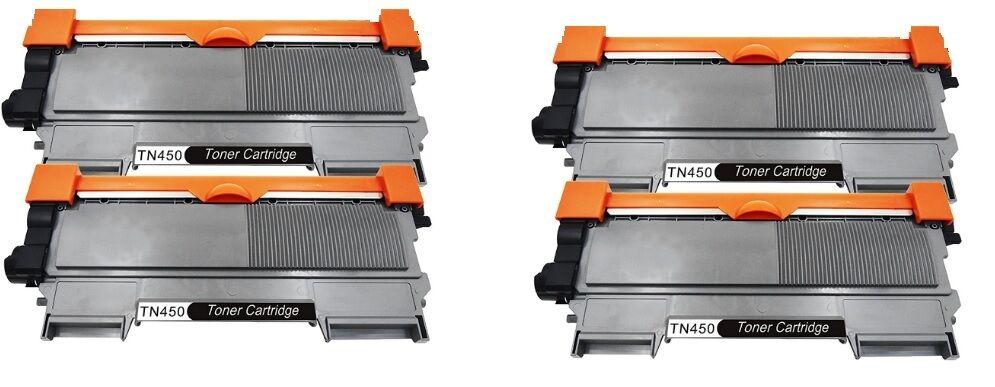 4-Pack Brother TN450 High Yield Black Toner Cartridges BRAND