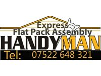 Handymen Service/Flat Pack Assembly/Kitchen Fitter/Painter/TV Wall Mounting/Curtain Fitter/Shelving