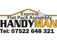 Flat Pack Assembly/Handyman Service/ TV Wall mounting/ Kitchen Fitters/Sign Fitters /Curtain Fitter
