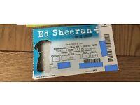 1 Ed Sheeran Ticket for the London O2, 3rd May - Block 416