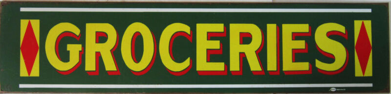 Groceries Rustic/Vintage Mummert Metal Sign