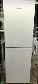 Hotpoint fridge freezer height is 185 cm and width is 60 cm white