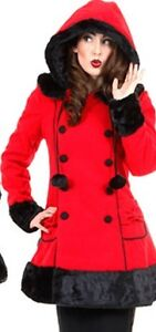 Sarah Jane Coat in Red XXL 2xl NEW Winter Coat