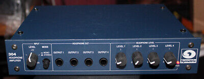 Symetrix 304-4 Channel Mono-Stereo Headphone Amplifier-W/ Power Supply-Original!, used for sale  Shipping to India