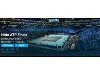 2x Nitto ATP Finals 2018   The O2 Arena - 11-Nov 2018 @ 6pm   £100 per ticket