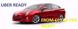 FROM £99.0/WEEK WITH INSURANCE/PCO CAR HIRE/UBER/READY CARS!TOYOTA PRIUS/HONDA INSIGHT,7 SEATS RENT