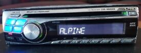 CAR HEAD UNIT ALPINE CDE 9845RB MP3 CD PLAYER 4x 45 AMPLIFIER AMP STEREO RADIO
