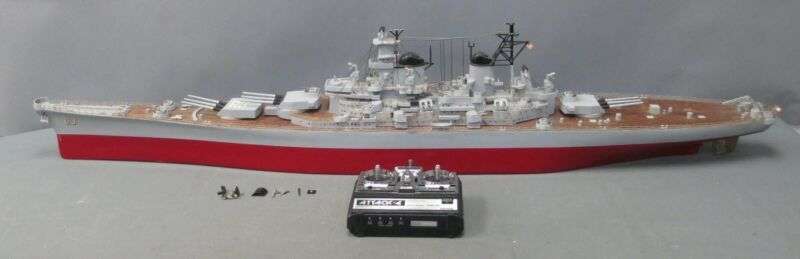 """Sterling Models 56"""" Wooden USS Missouri RC Model with Remote"""