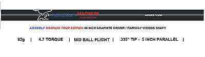 """6 PACK AGXGOLF 82g GRAPHITE DRIVER / FAIRWAY WOOD SHAFTS REGULAR FLEX .335 / 46"""" for sale  Shipping to Canada"""