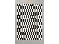 Urban Outfitters Stack 5x7 Black White Chevron Aztec Rug New