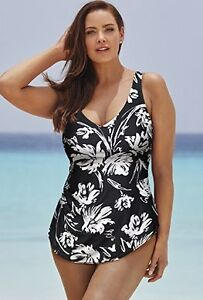 High quality plus size sarong front swimsuit 3x 4x (size 28-30) St. John's Newfoundland image 1