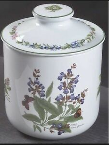 Royal Worchester Large Canisters Herbs Design