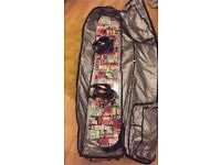 Bataleon snowboard and K2 bindings