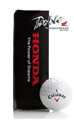 2021 Boxed Genuine Honda Merchandise Callaway Golf Ball Balls Trio Set HX...