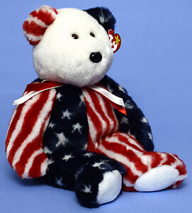 Spangle the USA Bear Ty Beanie Buddy stuffed animal