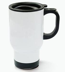 14oz Stainless Steel Mug -Full White 001412