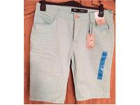 Brand new men's slim fit 34 inch waist shorts