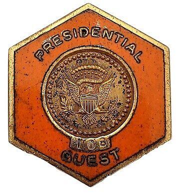 Rare Secret Service Presidential Visit Pin Richard Nixon Campaign Visit