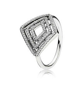 Genuine Pandora Ring Geometric Style