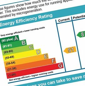 Domestic Energy Performance Certificates (EPC) - From £35 - £40 - NORTHERN EPC