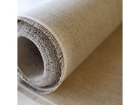 LINEN FABRIC - 10K Linen Canvas Interfacing - Non-Fusible (Sew In) - 200M IN STOCK - HALF PRICE