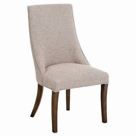 """Designer by Mindy Brownes """"Nicole"""" Dining Chairs in oatmeal New Ex Display"""