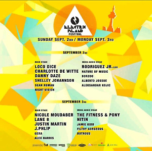 Electric island Hard Tickets - September 2nd & 3rd