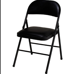 4 Padded Black Folding Chairs