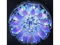 LED Ceiling Chandelier Crystal Colour & white Light MP3 Music Bluetooth Remote