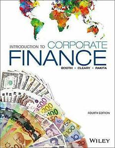 Introduction to corporate finance, 4rd Canadian edition, Booth